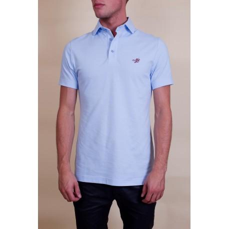 Tee-Shirt Polo Hommes -bleu claire-Perdida