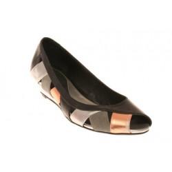 MELLOW YELLOW Dietrich - Chaussures femme- Ballerines multicolore Noire Gris Saumon
