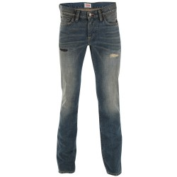 Edwin Pantalons Jeans - Granite Denim Slim Edwim Blue Saburo Light Used L34 - Homme