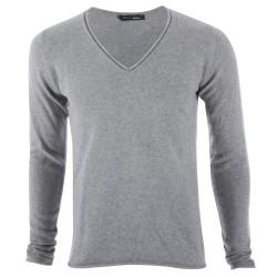 Trust couture paris Pulls - Pur Cachemire Preciosa Grey V-Neck - Homme
