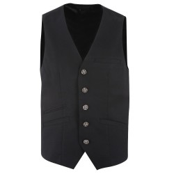 Trust couture paris Gilets - Black Wool Suit - Homme