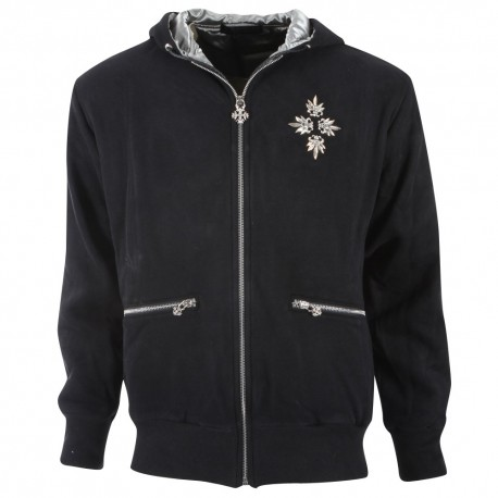 Trust couture paris Veste - Capuche Black Hoodie Silver - Homme
