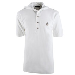 Trust couture paris T-shirts - White Hooded Polo - Homme