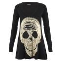 Lauren moshi T-shirts - Crâne Manches Longues Noir - Femme