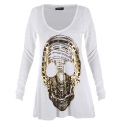 Lauren moshi T-shirts - Crâne Manches Longues Blanc - Femme