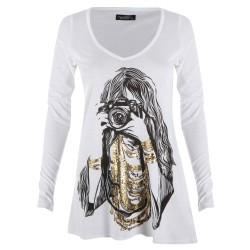 Lauren moshi T-shirts - Photographe Manches Longues Blanc - Femme