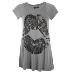 Lauren moshi T-shirts - Lip Manches Courtes Gris - Femme