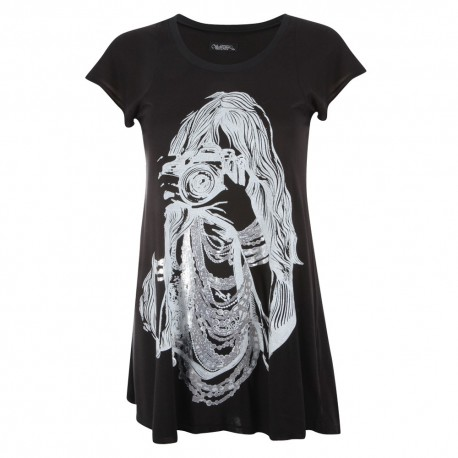 Lauren moshi T-shirts - photographe Col Rond Noir - Femme