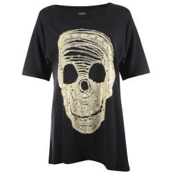 Lauren moshi T-shirts - Crâne Col Rond Noir - Femme