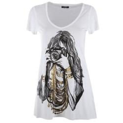 Lauren moshi T-shirts - Photographe Manches Courtes Blanc - Femme