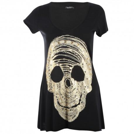 Lauren moshi T-shirts - Crâne Manches Courtes Noir - Femme