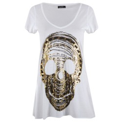 Lauren moshi T-shirts - Crâne Manches Courtes Blanc - Femme