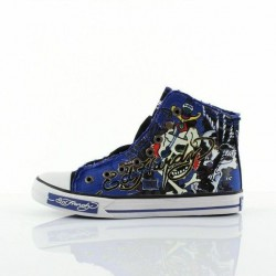 Ed hardy Baskets - Highrise royal blue - Homme