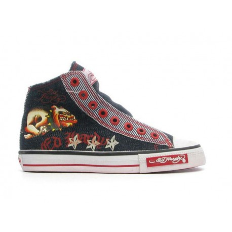 Ed hardy Baskets - Greaser Highrise dark blue - Garçon