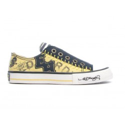 Ed hardy Baskets - Letterman yellow - Garçon