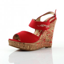 Ed hardy Sandales - Private red - Femme