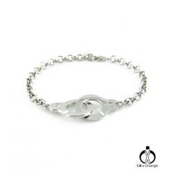 Bracelet chaine menotte i.d x-change X10011 Argent