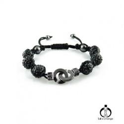 Bracelet shamballa i.d x-change SCB-XS-B menotte noir