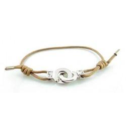Bracelet menotte argent i.d x-change S cordon