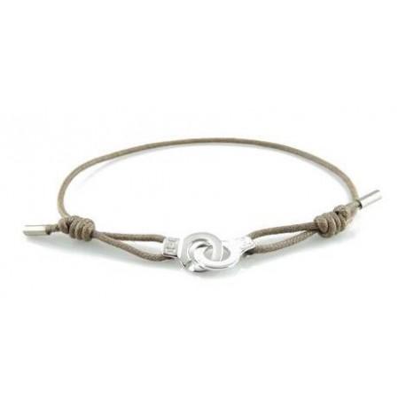 Bracelet menotte argent i.d x-change XXS cordon