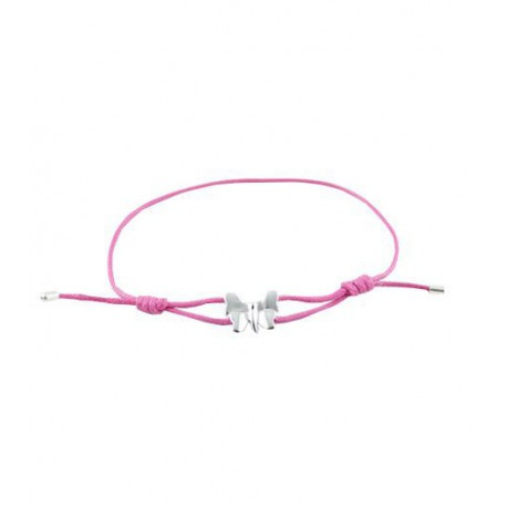 Bracelet i.d x-change papillon argent P01-A-2 cordon