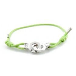 Bracelet menotte acier i.d x-change S cordon