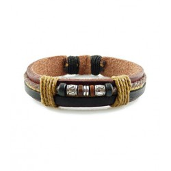 "Bracelet tibétain cuir TIB01 i.d x-change "" Tibéria """