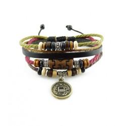 "Bracelet tibétain cuir TIB02 i.d x-change "" Tibéria """