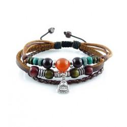 "Bracelet tibétain cuir TIB03 i.d x-change "" Tibéria """