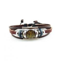 "Bracelet tibétain cuir TIB04 i.d x-change "" Tibéria """