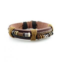 "Bracelet tibétain cuir TIB05 i.d x-change "" Tibéria """