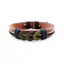 "Bracelet tibétain cuir TIB06 i.d x-change "" Tibéria """