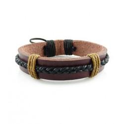 "Bracelet tibétain cuir TIB08 i.d x-change "" Tibéria """