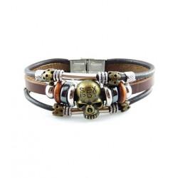 "Bracelet tibétain cuir TIB10 i.d x-change "" Tibéria """