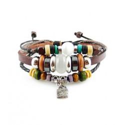 "Bracelet tibétain cuir TIB15 i.d x-change "" Tibéria """