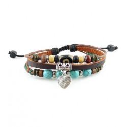 "Bracelet tibétain cuir TIB16 i.d x-change "" Tibéria """