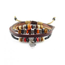 "Bracelet tibétain cuir TIB17 i.d x-change "" Tibéria """
