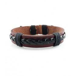 "Bracelet tibétain cuir TIB18 i.d x-change "" Tibéria """