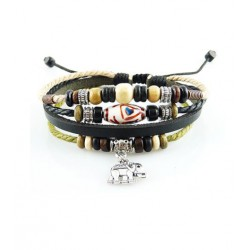 "Bracelet tibétain cuir TIB19 i.d x-change "" Tibéria """