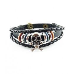 "Bracelet tibétain cuir TIB21 i.d x-change "" Tibéria """
