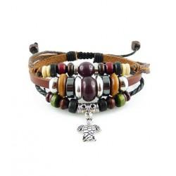 "Bracelet tibétain cuir TIB22 i.d x-change "" Tibéria """