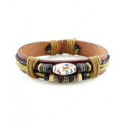 "Bracelet tibétain cuir TIB24 i.d x-change "" Tibéria """