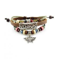 "Bracelet tibétain cuir TIB25 i.d x-change "" Tibéria """