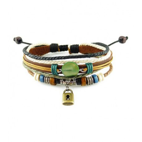 "Bracelet tibétain cuir TIB26 i.d x-change "" Tibéria """