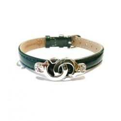 Bracelet menotte rhodium i.d x-change XBC-W cuir