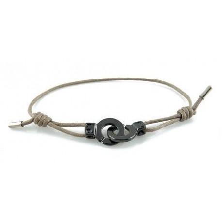 Bracelet menotte ruthénium i.d x-change XS cordon