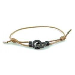 Bracelet menotte ruthénium i.d x-change XXS cordon