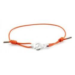 Bracelet menotte rhodium i.d x-change XXS cordon