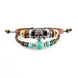 "Bracelet tibétain cuir TIB27 i.d x-change "" Tibéria """