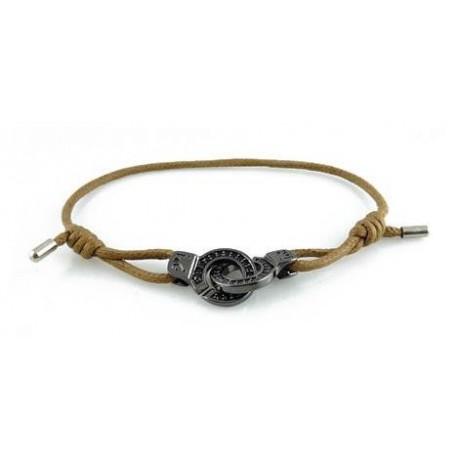 Bracelet menotte ruthénium serti i.d x-change XS cordon